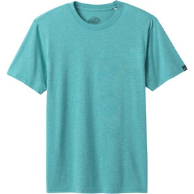 Prana Crew T-Shirt Men azurite heather